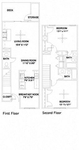 The Eno 1162 Floor Plan 3
