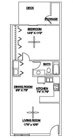 The Brightleaf 650 Floor Plan 1