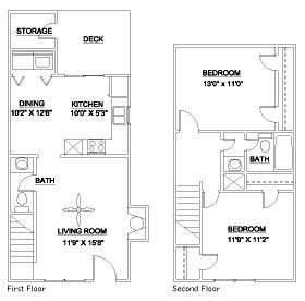 The Eno 980 Floor Plan 1