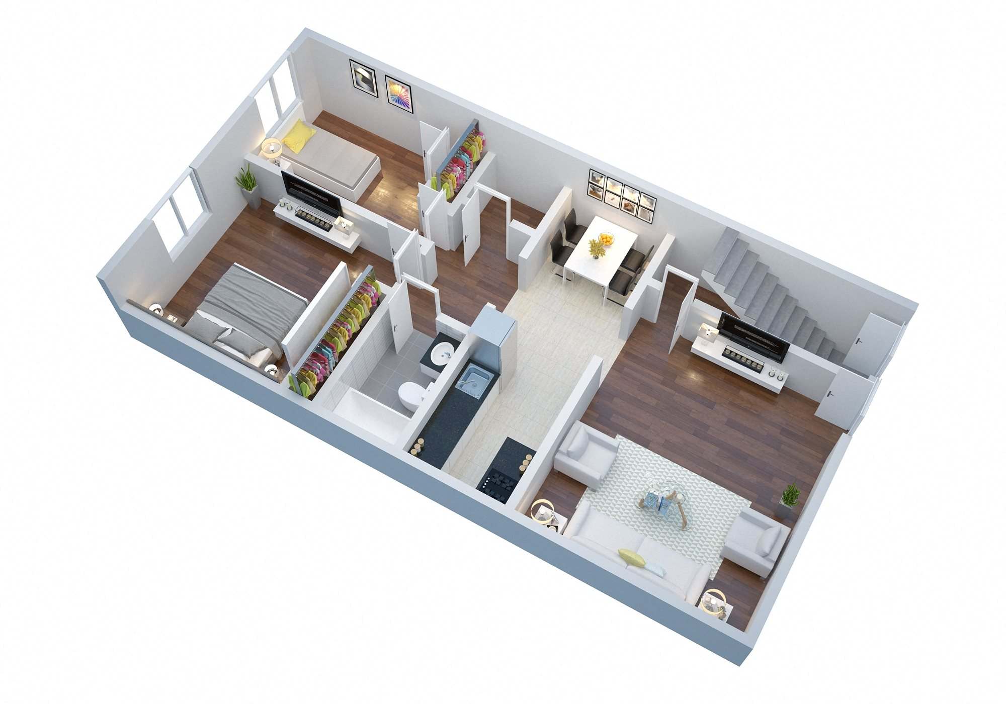 2 Bedroom with Garage Floor Plan 5