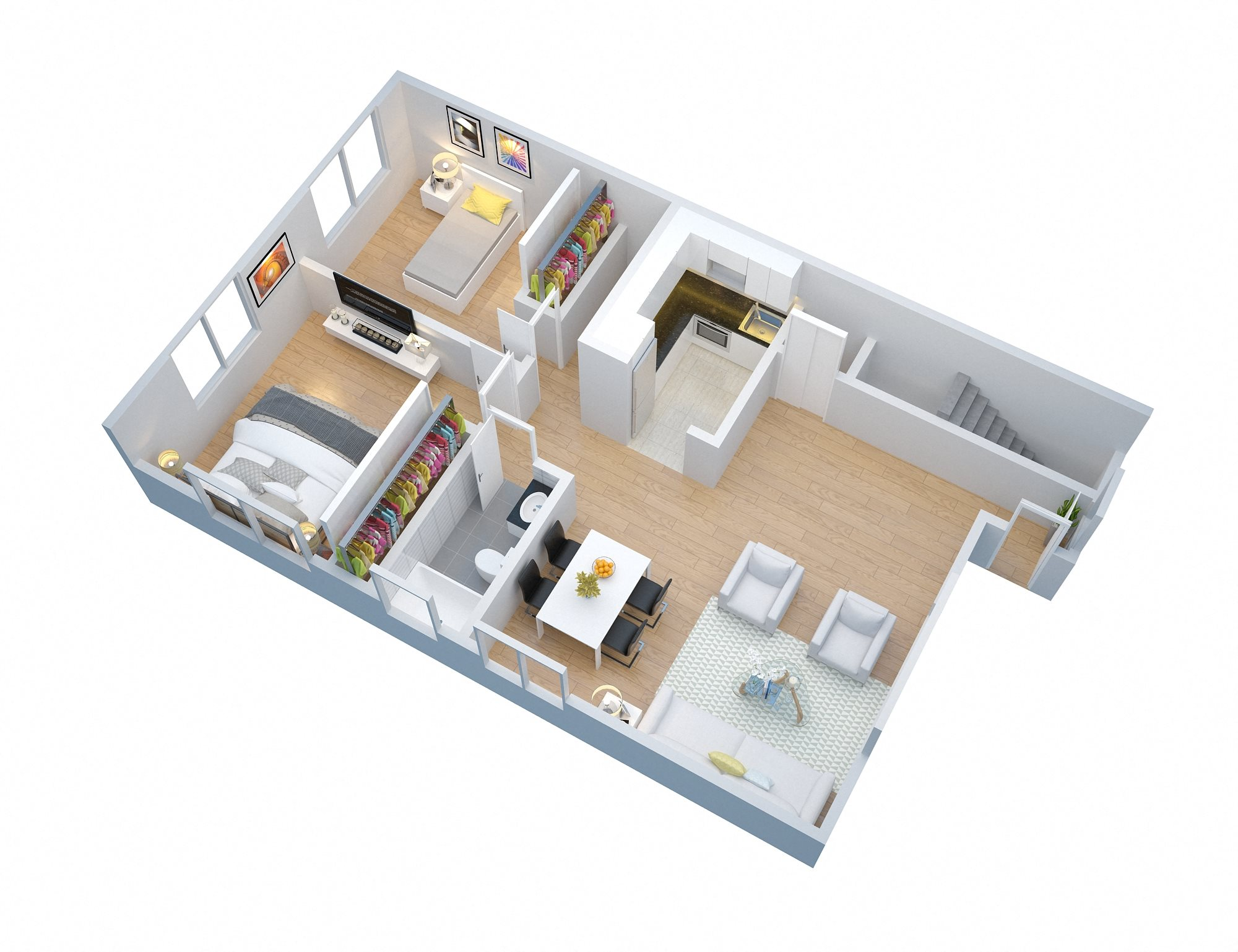 2 Bedroom with Garage Floor Plan 2
