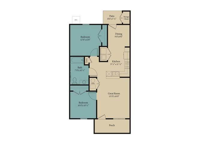 The Azalea Floor Plan 1