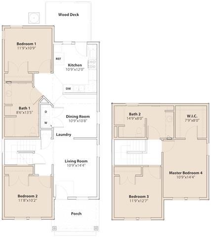 2 Bedrooms Downstairs Floor Plan 4