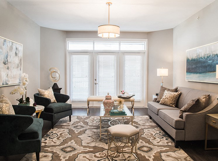 Emerald Style Floorplan Living Room at Quarry at River North
