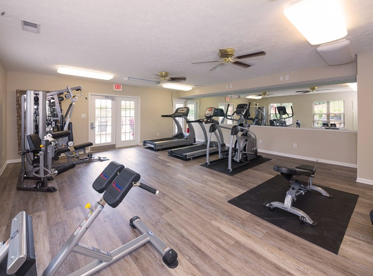 Fully-equipped Fitness Center at Wyndamere Apartments, Georgetown