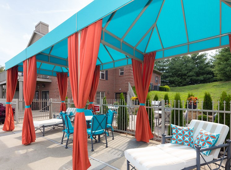 Relaxing Pool Lounge Area at Wyndamere Apartments, Georgetown, KY 40324