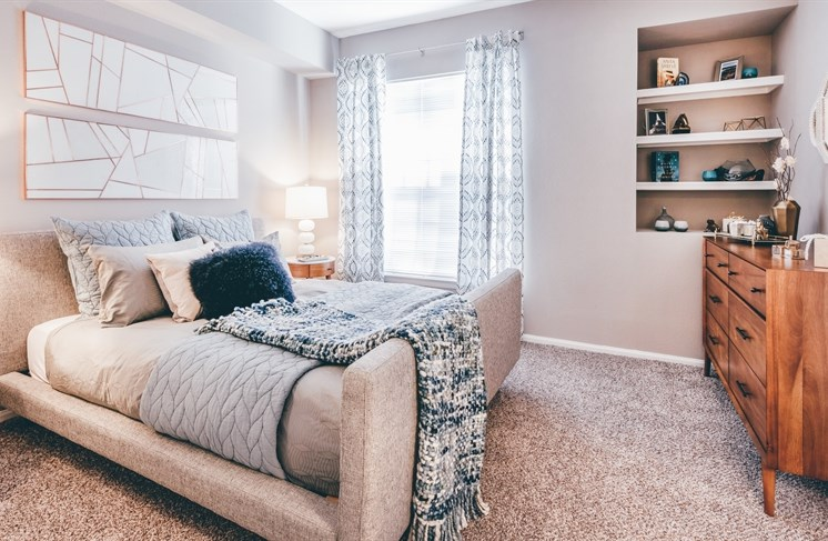 Plush Carpeting in Living Room and Bedrooms at The Garfield, Bowie, Maryland