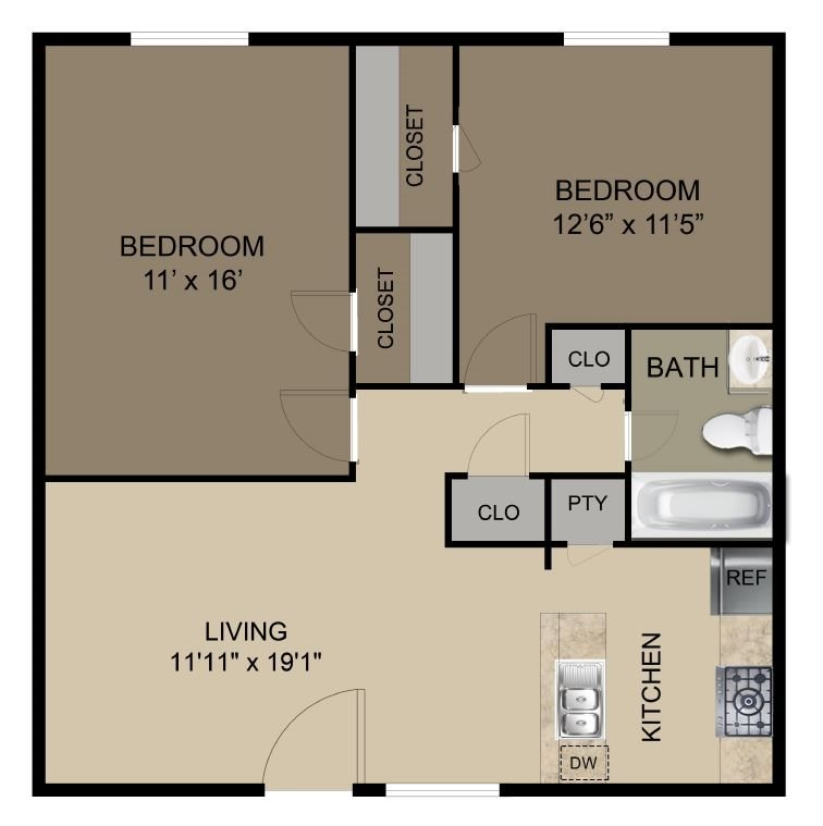 Floor Plans Of Briar Cove Apartments In Greenville, TX