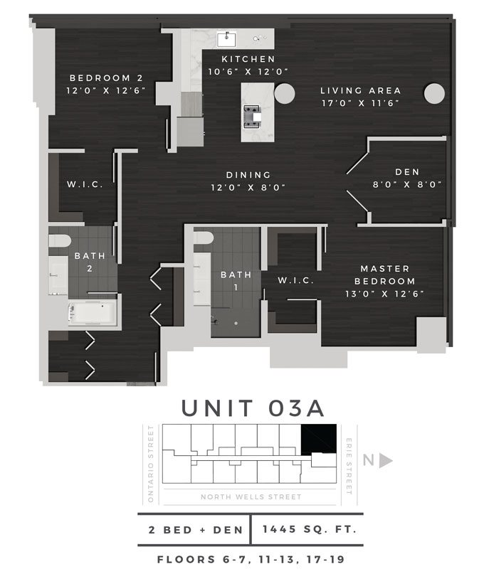 Two Bedroom Den 03A Floor Plan 15