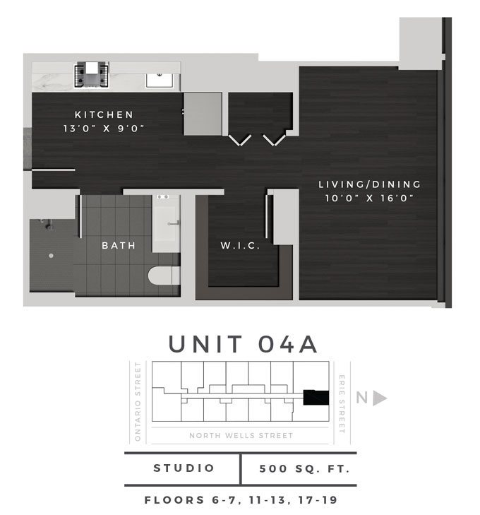 Studio 04A Floor Plan 1
