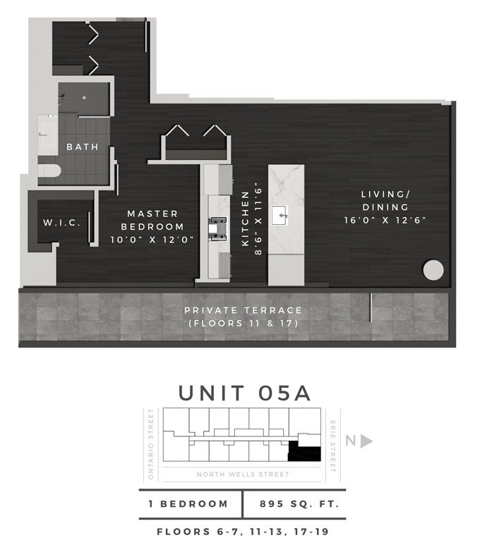 One Bedroom 05A Floor Plan 22