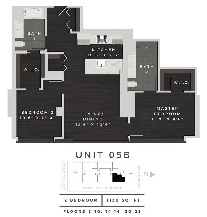 Two Bedroom 05B Floor Plan 12