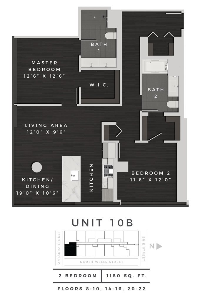 Two Bedroom 10B Floor Plan 13
