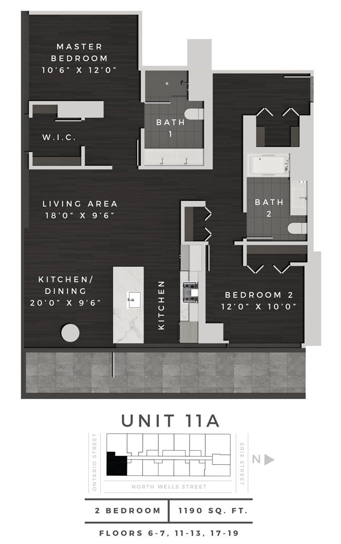 Two Bedroom 11A Floor Plan 10