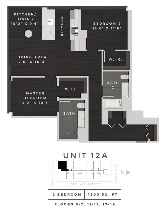 Two Bedroom 12A Floor Plan 11