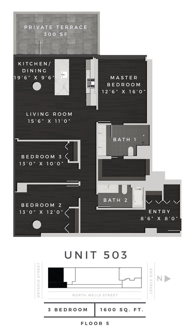 Three Bedroom 503 Floor Plan 20