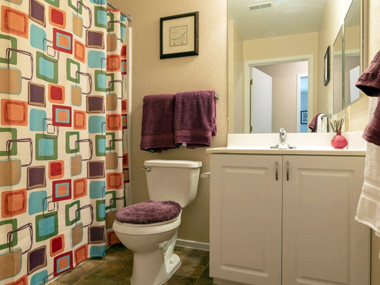 Vibrant Bathroom; Waterford Pines in Waterford, MI