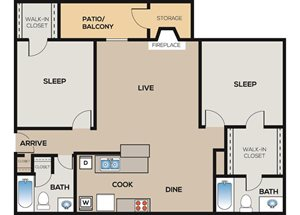 2 Bedroom | 2 Bathroom