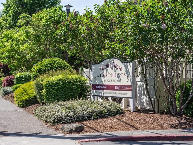 Garden Grove Apts property sign