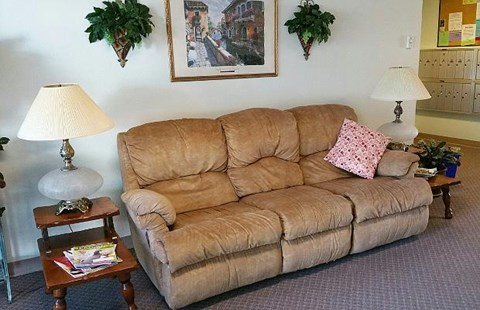 Couch in common area