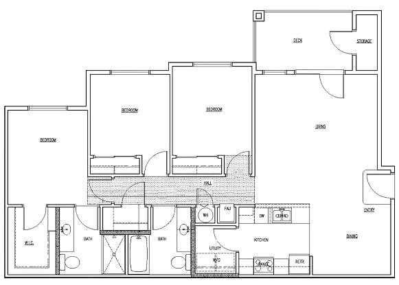 3 bedroom units Floor Plan 2