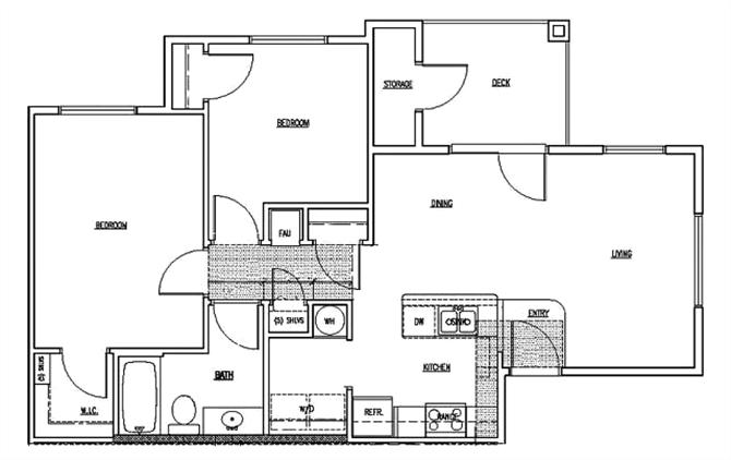 2 bedroom units Floor Plan 3