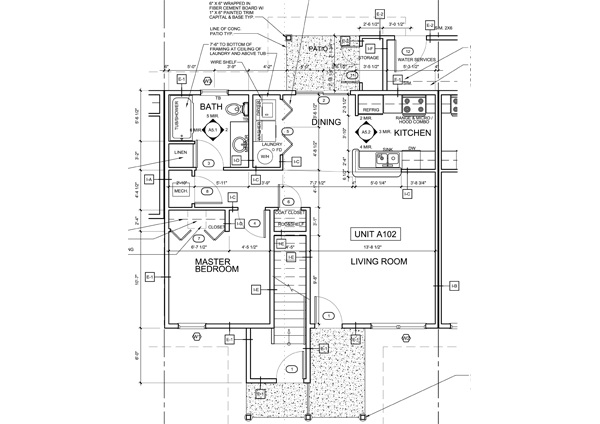 1 bedroom units Floor Plan 1