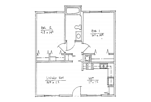 2 Bedroom Floorplan Floor Plan 2