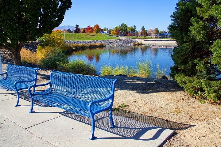 Bench by the water l Waterfront at the Marina in Sparks NV