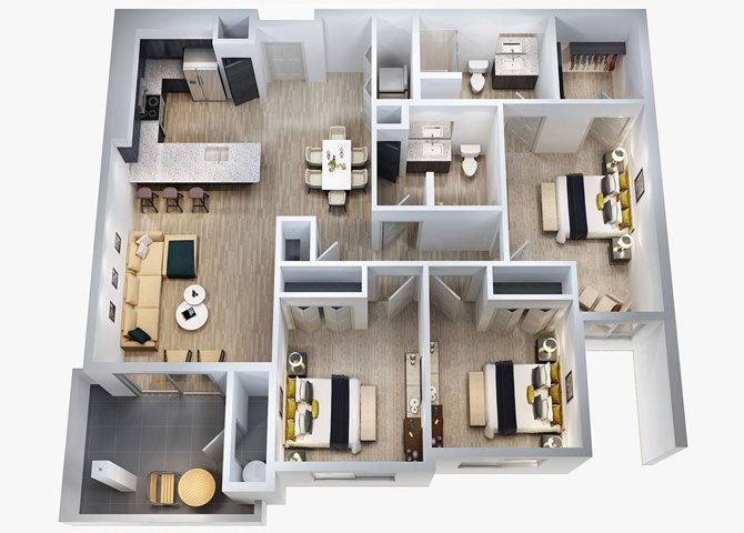 C1 Floor Plan 7