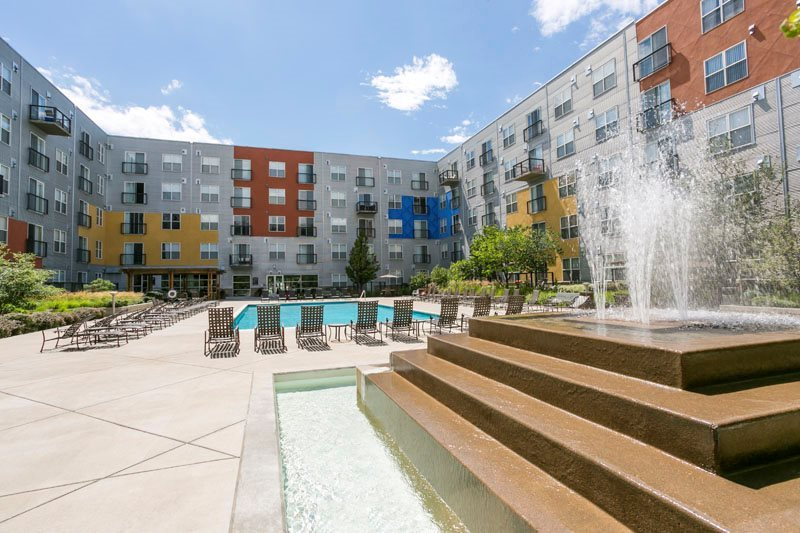 Large Heated Swimming Pool At Ballpark Lofts Apartments Denver Co 80205