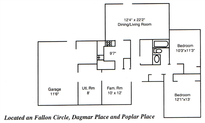 Two Bedroom Floor Plan 1