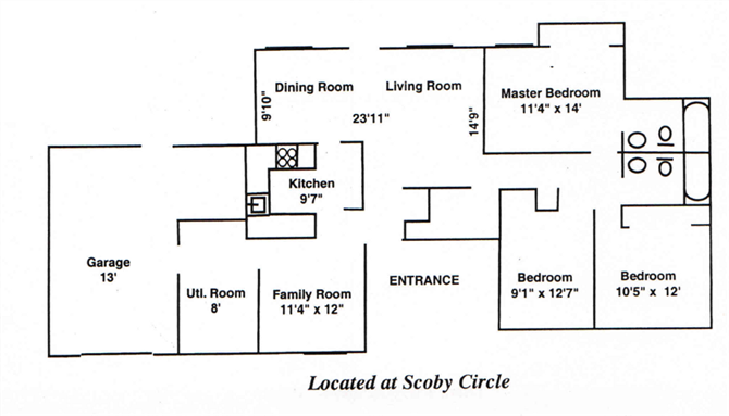 Three Bedroom - Scoby Circle Floor Plan 2
