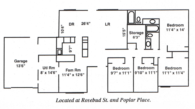 Four Bedroom Floor Plan 3