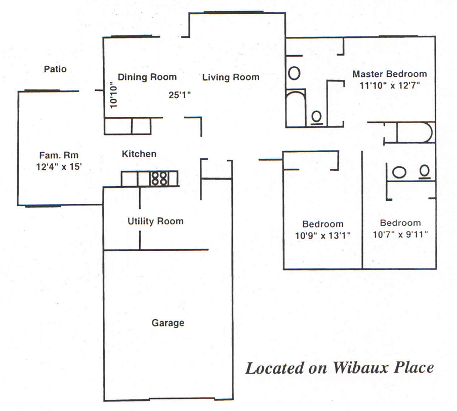 Three Bedroom - Wibaux Place Floor Plan 4