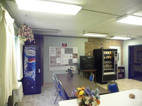 Common area with vending machines