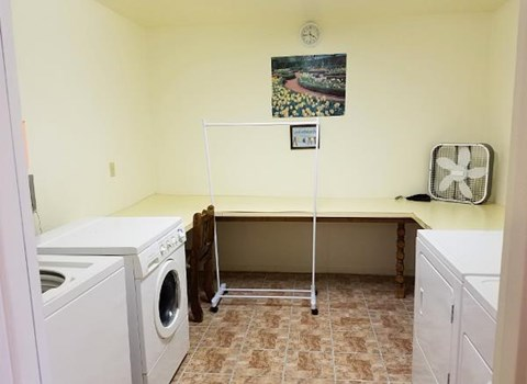 Laundry area at Emerald Housing
