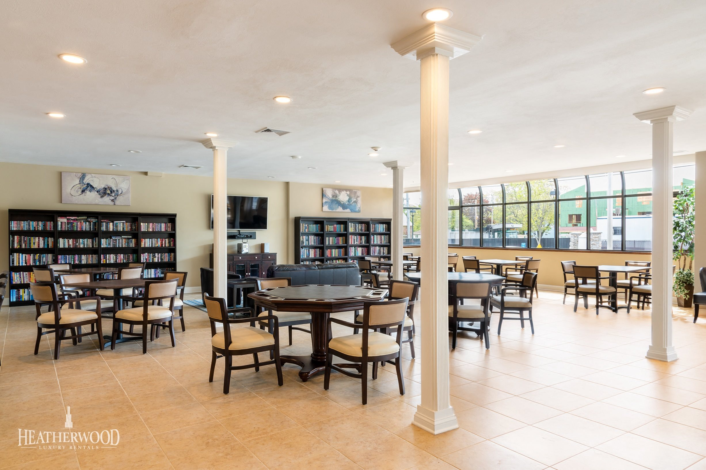 Community Center and Lounge Area, Card Tables, TV