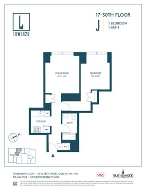 floor plan at tower 28 long island city