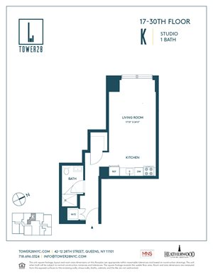 floor plan at tower 28 by heatherwood luxury rentals