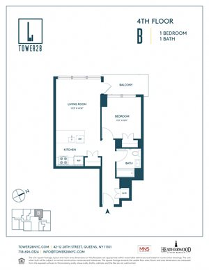 Tower 28 Floorplan Apartment 4B