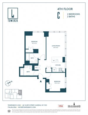 Tower 28 Floorplan Apartment 4C