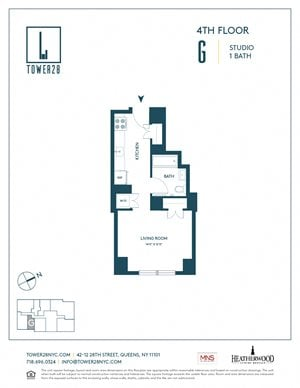 Tower 28 Floorplan Apartment 4G