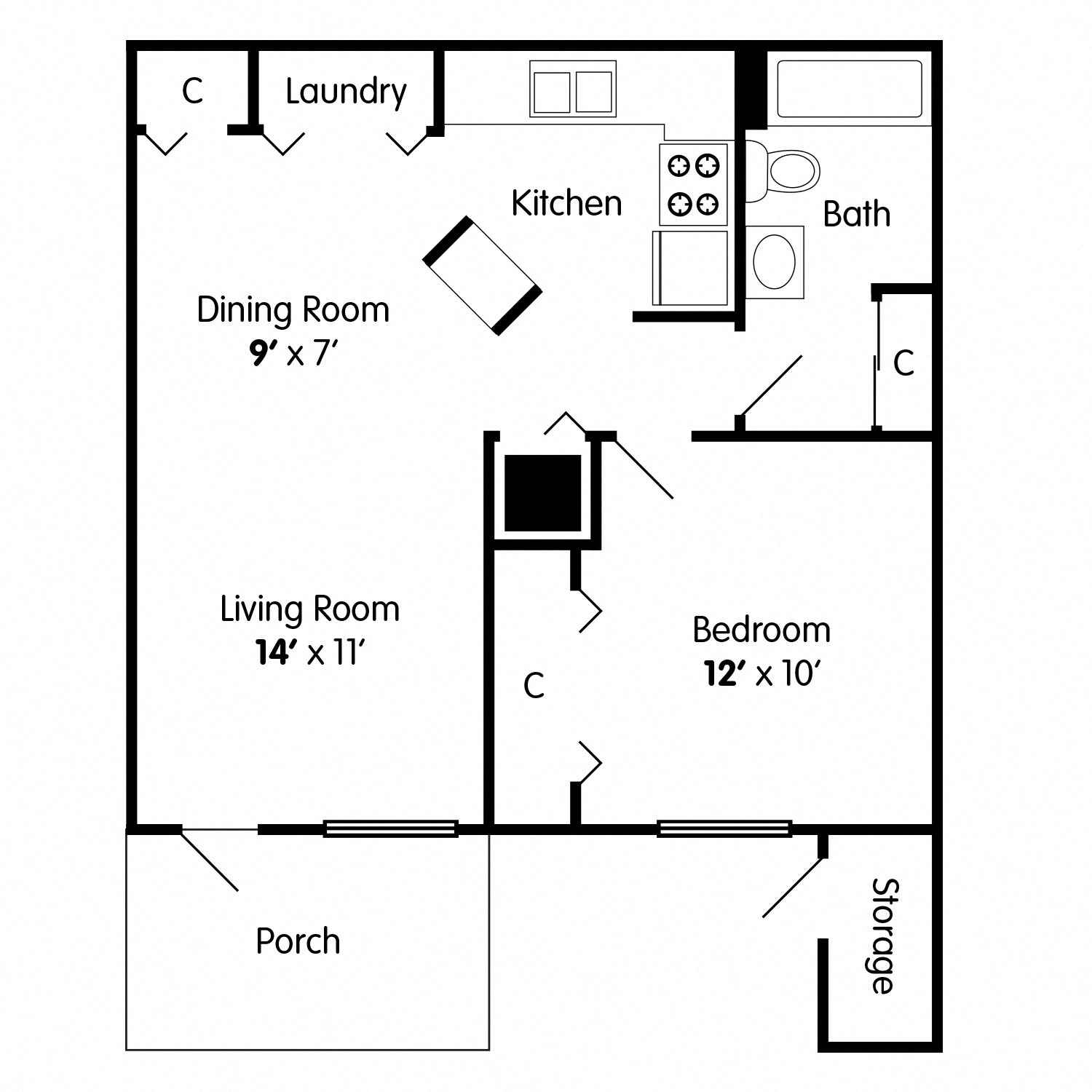 One Bedroom Apartment in Indianapolis