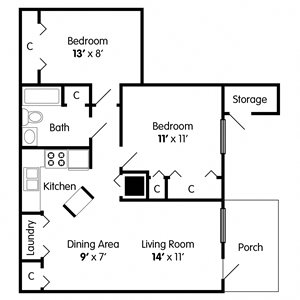 2 Bedroom Apartment on Mann Rd Indianapolis
