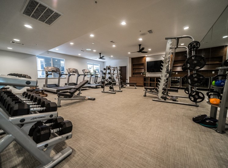 fitness center soco apartments in austin