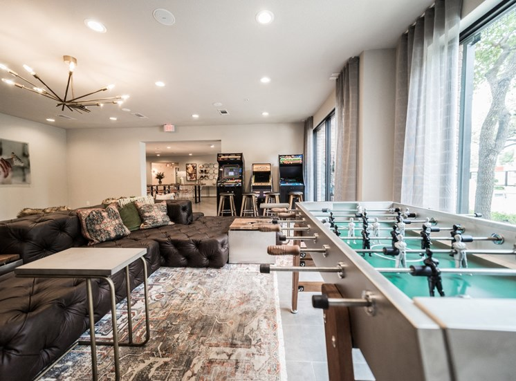 game room soco apartments in austin