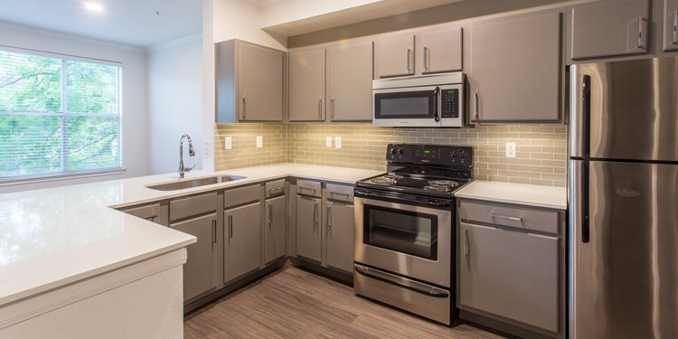 kitchen area apartments on south congress
