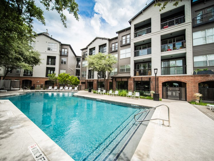 soco apartments in austin with a pool