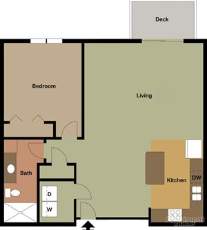 Large 1 Bedroom/1 Bath